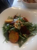 Arugula Beet salad with goat cheese 2-12