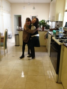 Manya and Shoshana at Shoshana's surprise Birthday Party