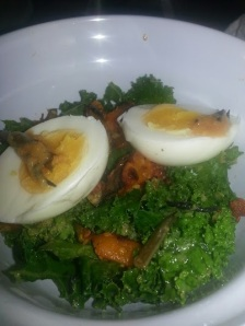 Deviled Eggs and Kale Salad